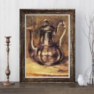 Coffee Pot Cross Stitch Chart by Pierre-Auguste Renoir (MINI)