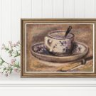Still Life of Coffee Cross Stitch Chart by Pierre-Auguste Renoir (MINI)