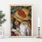 Two Young Girls Reading Cross Stitch Chart by Pierre-Auguste Renoir (MINI)