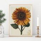 Sunflower Cross Stitch Chart by Daniel Froesch (MINI)