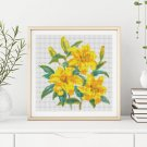 A Trio of Yellow Day Lilies Cross Stitch Chart