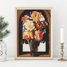 Bouquet of Flowers Cross Stitch Kit by Ambrosius Bosschaert