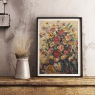 Vase with Flowers Cross Stitch Kit by Nicolae Darascu