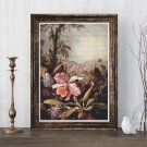 Orchids and Passion Flowers Cross Stitch Kit by Martin Johnson Heade