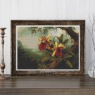 Orchids and Hummingbird Cross Stitch Kit by Martin Johnson Heade
