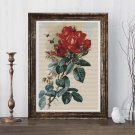 Roses Cross Stitch Kit by Paul de Longpre