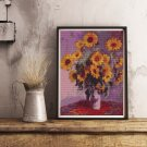 Sunflowers Cross Stitch Kit by Claude Monet