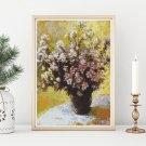 Bouquet of Mallows Cross Stitch Kit by Claude Monet