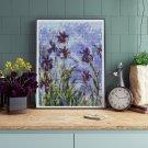 Irises Cross Stitch Kit by Claude Monet