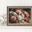 Peonies Cross Stitch Kit by William Jabez Muckley