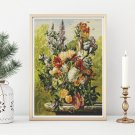 Bouquet of Flowers on a Ledge Cross Stitch Kit by Joseph Nigg
