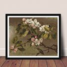 Hummingbird And Apple Blossoms Cross Stitch Chart by Martin Johnson Heade