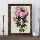 Roses and Bumblebees Cross Stitch Chart by Paul de Longpre