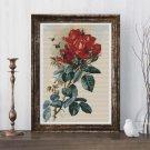 Roses Cross Stitch Chart by Paul de Longpre