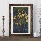 Yellow Irises Cross Stitch Chart by Claude Monet