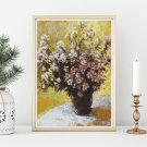 Bouquet of Mallows Cross Stitch Chart by Claude Monet