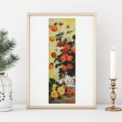 Dahlias II Cross Stitch Chart by Claude Monet