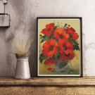 Poppies in a Vase Cross Stitch Chart by William Jabez Muckley