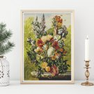 Bouquet of Flowers on a Ledge Cross Stitch Chart by Joseph Nigg