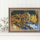 Still Life with Four Sunflowers Cross Stitch Chart by Vincent Van Gogh