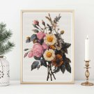 Flowers Cross Stitch Kit by Pierre-Joseph Redouté (REDOU04)