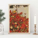Field of Flowers Cross Stitch Kit by Egon Schiele