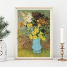 Bouquet of Daisies and Anemones Cross Stitch Kit by Vincent Van Gogh