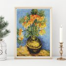 Fritillaries in a Copper Vase Cross Stitch Kit by Vincent Van Gogh