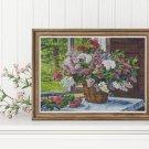 Lilacs by the Window Cross Stitch Kit by Pyotr Konchalovsky