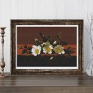 Cherokee Roses Cross Stitch Kit by Martin Johnson Heade
