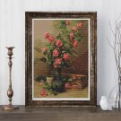 Roses Cross Stitch Kit by Martin Johnson Heade