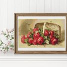 Basket of Roses Cross Stitch Kit by Paul de Longpre