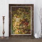 Flowers Cross Stitch Kit by Joseph Nigg