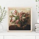 Lilacs in a Basket Cross Stitch Kit by Pyotr Konchalovsky