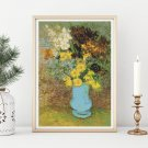 Bouquet of Daisies and Anemones Cross Stitch Chart by Vincent Van Gogh