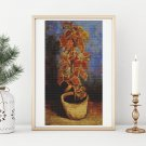 Coleus Plant in a Flowerpot Cross Stitch Chart by Vincent Van Gogh