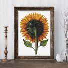 Sunflower Seen from the Back Cross Stitch Chart by Daniel Froesch