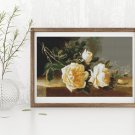 Yellow Roses Cross Stitch Chart by Eugene-Henri Cauchois