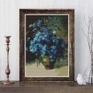 Cornflowers Cross Stitch Chart by Isaac Levitan