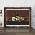 Cherokee Roses Cross Stitch Chart by Martin Johnson Heade