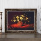 Yellow Daisies in a Bowl Cross Stitch Chart by Martin Johnson Heade