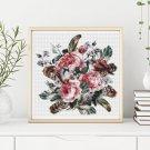 Roses and a Hummingbird Cross Stitch Chart