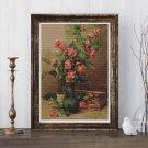 Roses Cross Stitch Chart by Martin Johnson Heade