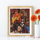 Chrysanthemums Cross Stitch Chart by Paul Cezanne