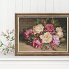 Bed of Roses Cross Stitch Chart