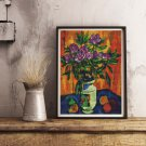 Still Life with Peonies in a Vase Cross Stitch Chart by Pyotr Konchalovsky