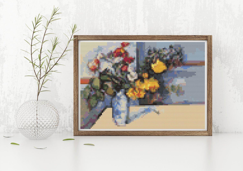 Still Life Cross Stitch Kit by Paul Cezanne (MINI)