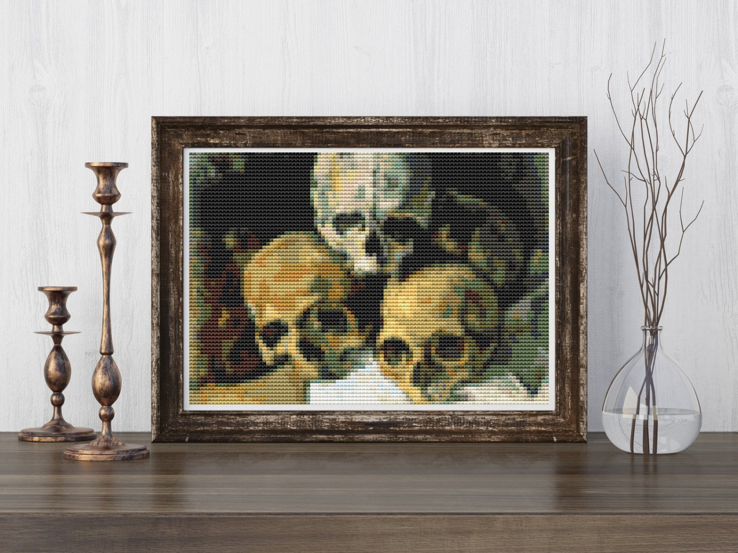 Pyramid of Skulls Cross Stitch Kit by Paul Cezanne (MINI)