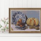 Still Life with Melon and Grapes Cross Stitch Kit by Claude Monet