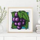 Garden Series: Luscious Grapes Cross Stitch Chart